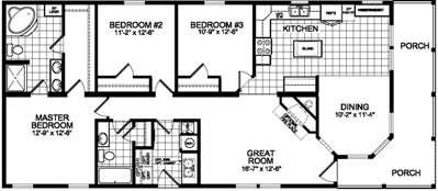 Bungalow 750 floorplan image