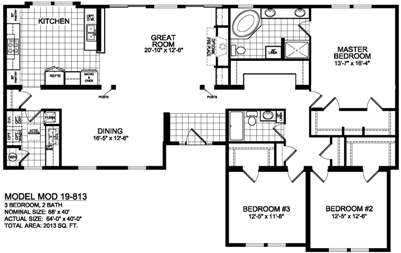 Good Bungalow 813 Floorplan Image